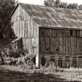 Governors Road Barn Sepia by Chuck Burdick
