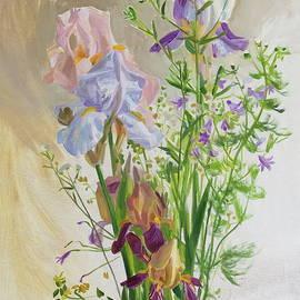 Graceful irises by Victoria Kharchenko