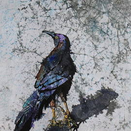 Grackle with Crackle by Marsha Reeves