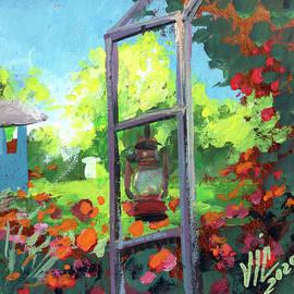 Gradina Mosescu Romania painting by Vali Irina Ciobanu by Vali Irina Ciobanu