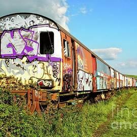 Graffiti train.