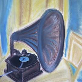 Gramophone. Colorful.  Graphic series. by SurfArtTango Marina Lisovaya