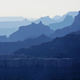 Grand Canyon blue silhouettes by Tatiana Travelways