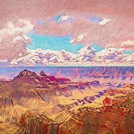Grand Canyon North Rim On A Cloudy Day by Alan LeStourgeon