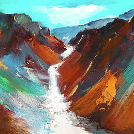 Grand Canyon of the Yellowstone by Elise Palmigiani