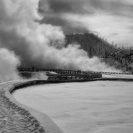 Grand Prismatic Winter Steambath by Wes and Dotty Weber