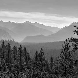 Grandjean Scenic Overlook Black And White by John Rogers