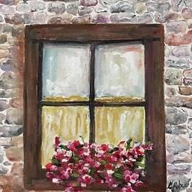 Grandmas window by Nancy Rabe