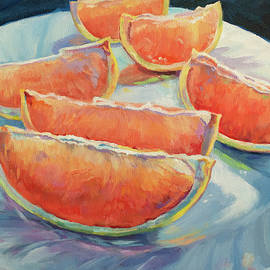 Grapefruit on a Plate by Sandy Herrault