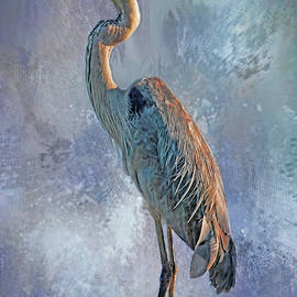Great Blue Heron Standing Tall by HH Photography of Florida