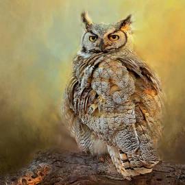 Great Horned Owl Portrait by Lowell Monke