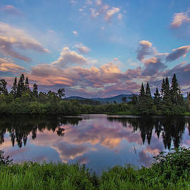 Great North Woods Sunset in New Hampshire by Chris Whiton