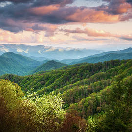 Great Smoky Mountains National Park Scenic Landscape Cherokee NC by Dave Allen