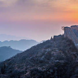 Great Wall Dusk Panorama by Inge Johnsson