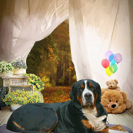 Greater Swiss Mountain Dog - DWP1284290 by Dean Wittle