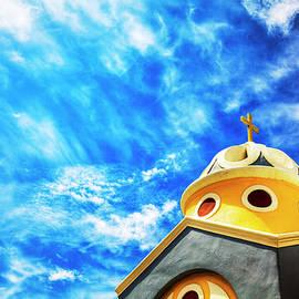 Greek Orthodox Church, Santorini by Paul Thompson