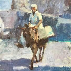 Greek Taxi by Nancy Avalon