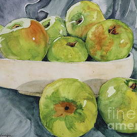 Green Apples In Mother's Planter by Patty Strubinger