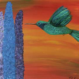 Green hummingbird 9 by Jennifer Long