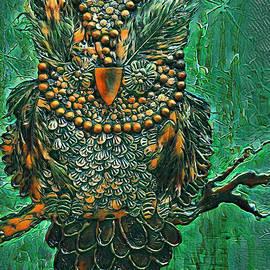 Green Owl by Trudee Hunter