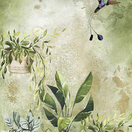 Green Plants Harmony Art by Johanna Hurmerinta