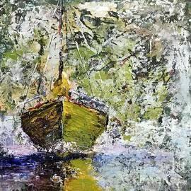 Green Sailboat by Patricia Caldwell