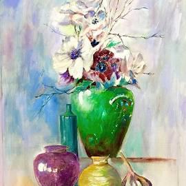 Green Vase by Khalid Saeed