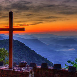 Greenville SC The Magnificent Cross 7 Pretty Place Chapel Great Smoky Mountains Landscape Art by Reid Callaway
