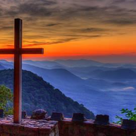 Greenville SC The Magnificent Cross Sunrise Pretty Place Chapel Landscape Art by Reid Callaway