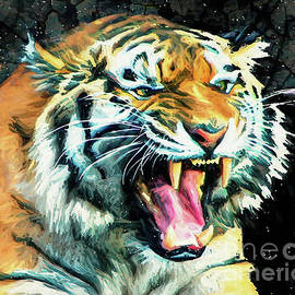 Growling Tiger by Tina LeCour