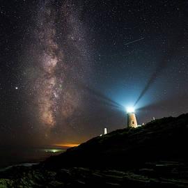 Guiding Lights at Pemaquid  by Benjamin Roberts