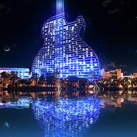 Guitar Hotel at Seminole Hard Rock by Mark Andrew Thomas