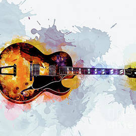 Guitar Ink Art by Ian Mitchell