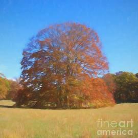 Gumdrop Tree Painting by Karen Silvestri