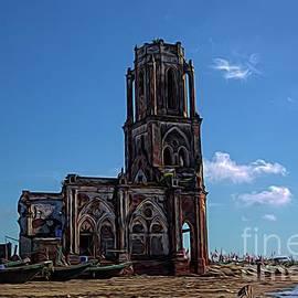 Hai Hau Church Ruins Hai Ly Province Vietnam  by Chuck Kuhn