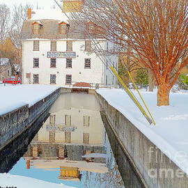 Haines Mill Dressed In Snow by Tami Quigley
