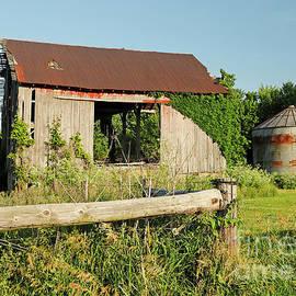 Half Gone Barn, Indiana by Steve Gass
