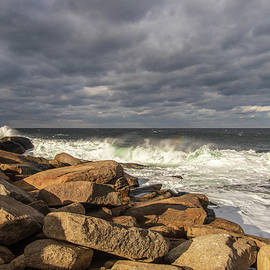 Halibut Point Rockport MA Winter 4 by Michael Saunders