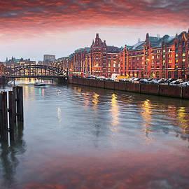 Hamburg Speicherstadt HafenCity By Dusk  by Carol Japp