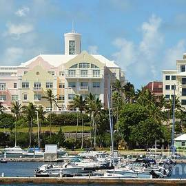 Hamilton Architecture And Marina, Bermuda by Marcus Dagan