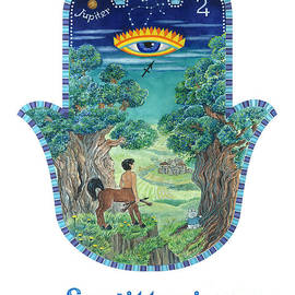 Hamsa for Sagittarius by Nonna Mynatt