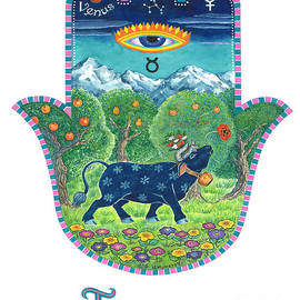Hamsa for Taurus by Nonna Mynatt