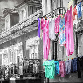 Hanging Laundry Lisbon Portugal  by Carol Japp