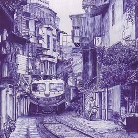 Hanoi Train Street by Mehbubul Shorove