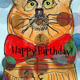 Happy Birthday Cat by Kathy Barney