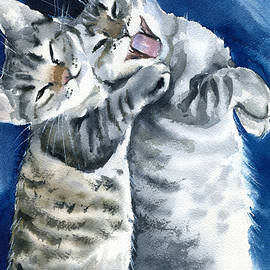 Happy Kitty Couple by Dora Hathazi Mendes