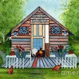 Happy Little Hen House  by Janine Riley