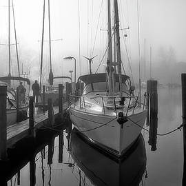 Harbor Fog - Stitched BW by Brian Wallace