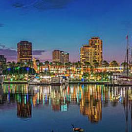 Harbor Magic Hour Cityscape Vista by David Zanzinger