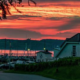 Harbor village 04.15 am June morning Denmark by Kim Lessel